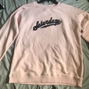 light pink saturdaze sweatshirt
